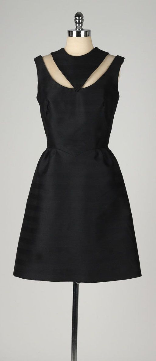 vintage 1950s dress . black wool blend . by millstreetvintage
