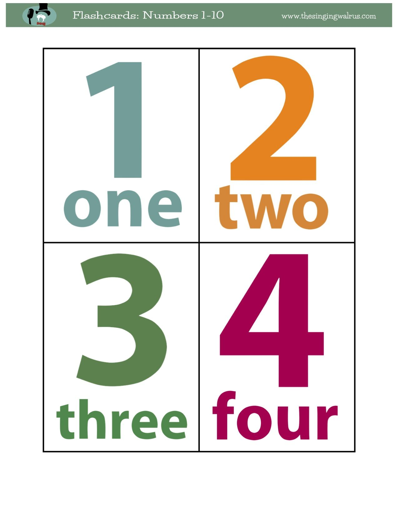 Found On Bing From Thesingingwalrus Com Flashcards Printable Flash Cards Free Printable Numbers