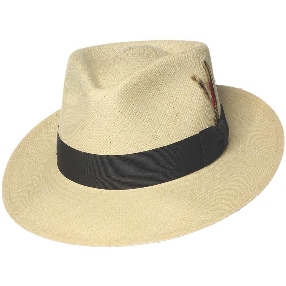 Capas Bogart Panama Straw Fedora Hat Fedora Di Paglia 752d134cc1a5