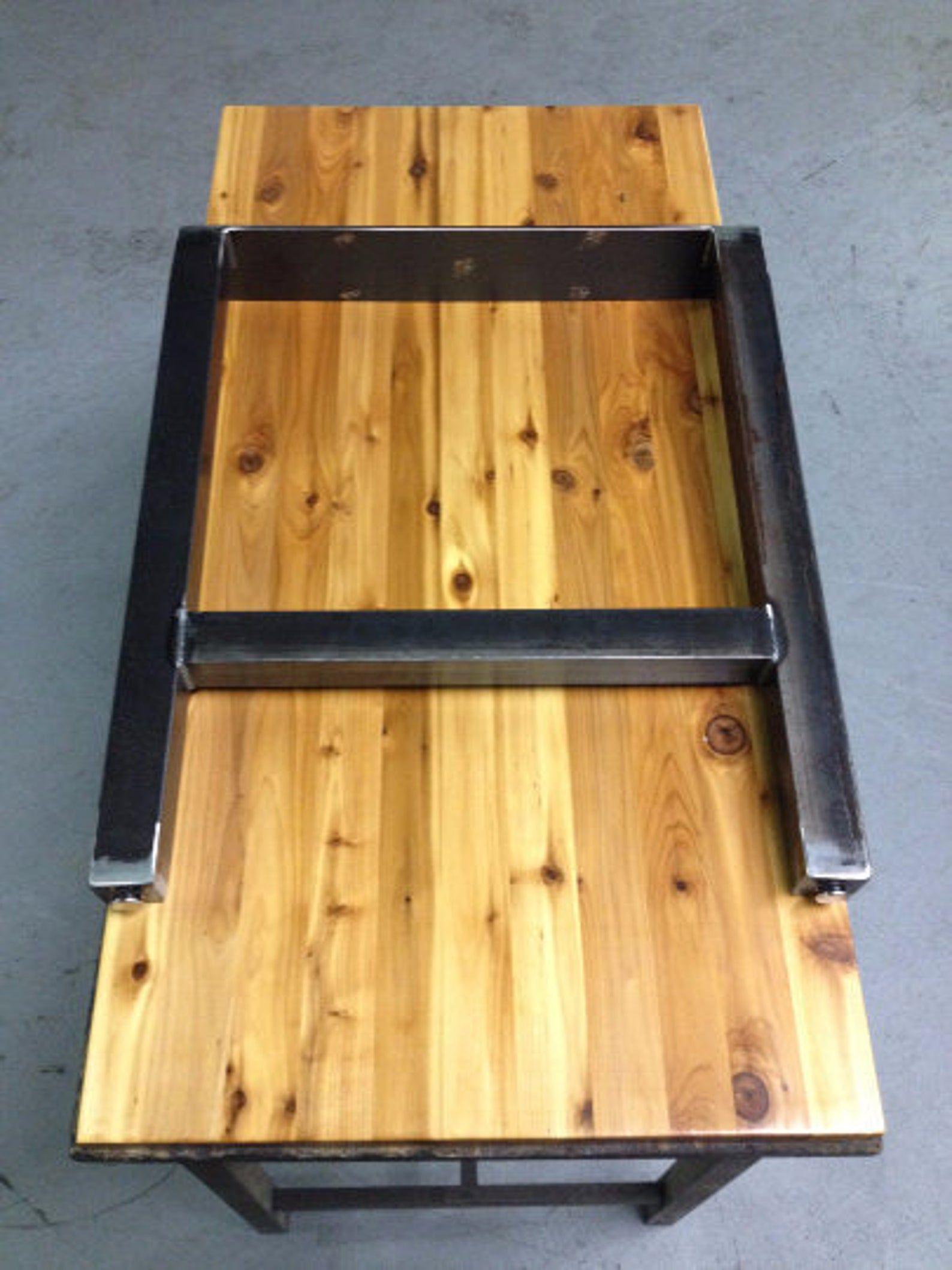 Metal Table Legs H Style Set of 2 Adjustable