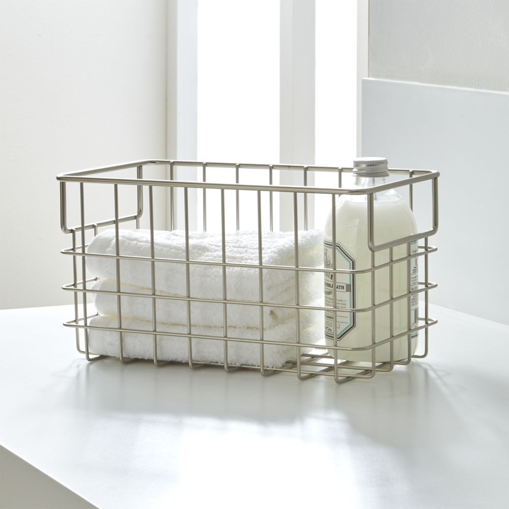 Small Wire Basket - Crate and Barrel | Products | Pinterest | Wire ...