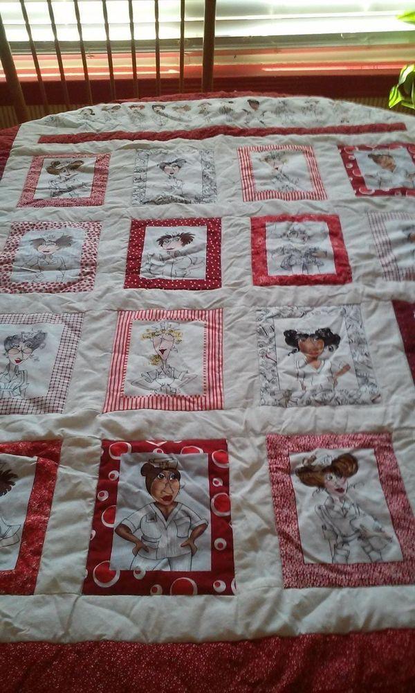 Nurse Quilt Blanket Handmade and Reversible Loralie Fabric Design | eBay