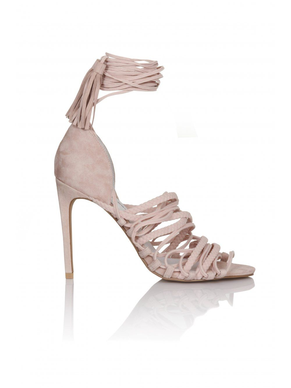 436eed55f6a6 JEFFREY CAMPBELL Sabra Pink Suede Lace Up Sandals - JEFFREY CAMPBELL from  Lavish Alice UK
