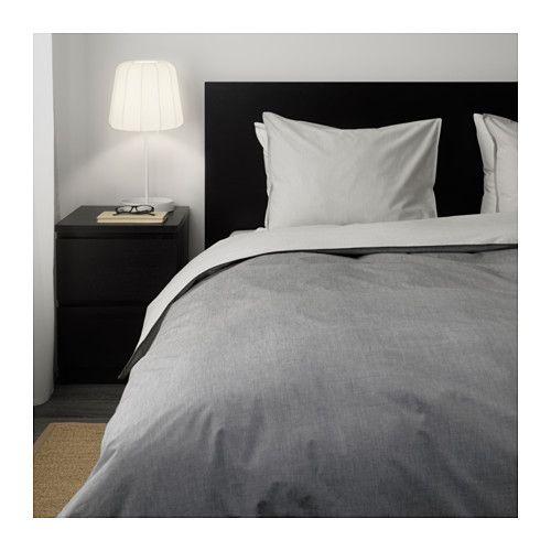 bl vinda housse de couette et taie gris suite parentale pinterest couettes ikea et place. Black Bedroom Furniture Sets. Home Design Ideas
