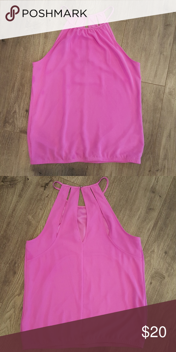 03b8a094c94a7 EXPRESS TANK BLOUSE Size Small Sleeveless Color  Pink Elastic bottom Back  vertical openings Express Tops