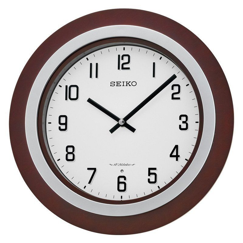 Seiko Round Musical Wall Clock Qxm547blh With Images Wall Clock