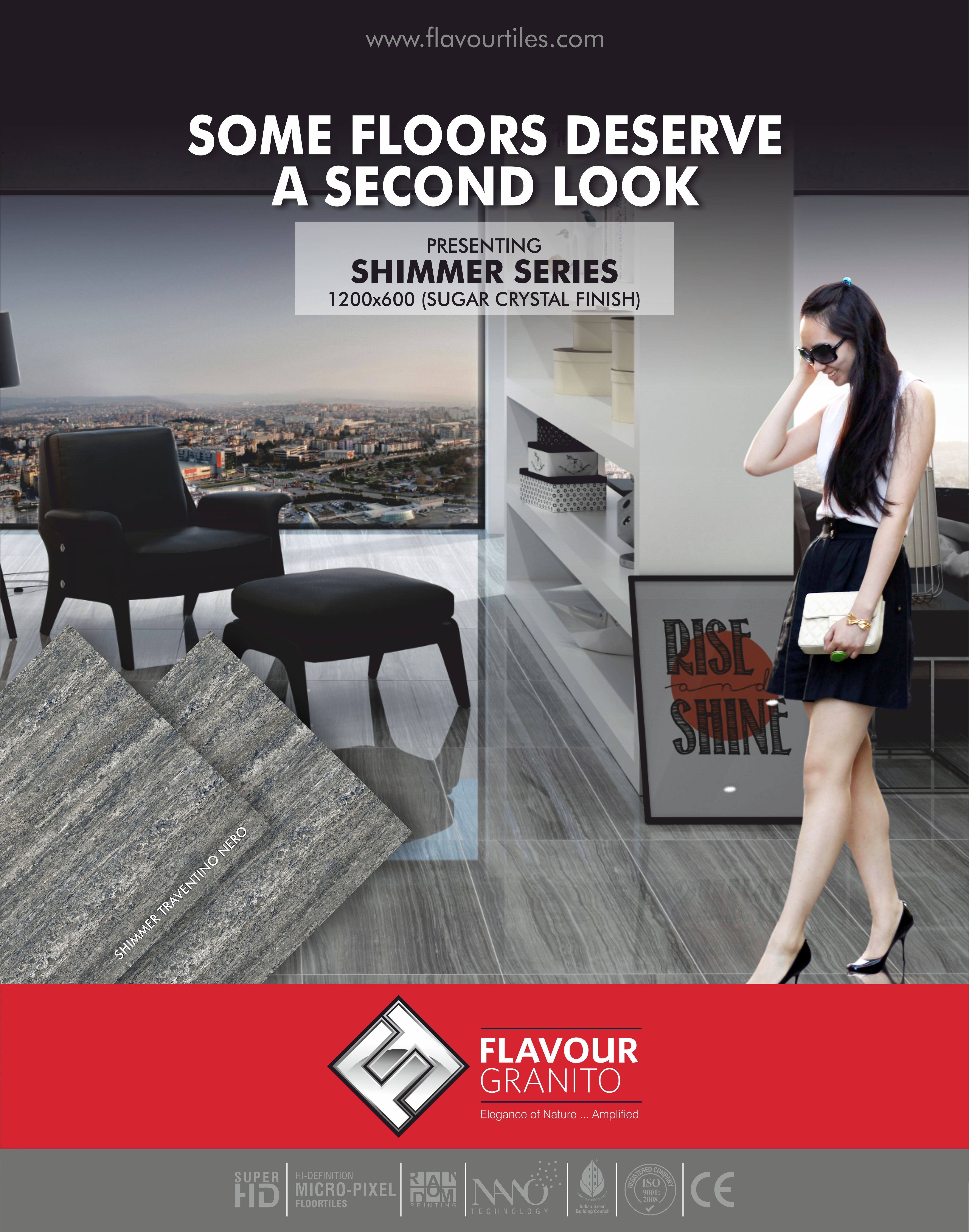 Some Floor Deserve A Second Look Shimmer Series Shimmer Traventino Nero 1200x600mm Sugar Crystal Finish Phones Tile Manufacturers Flooring Vitrified Tiles