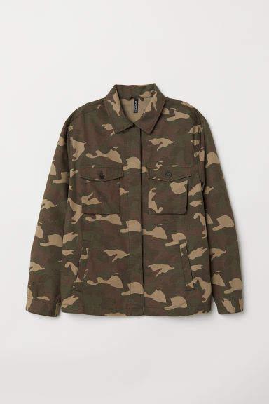 c684335027118 Patterned Utility Jacket | Products | Shirt jacket, Military jacket ...