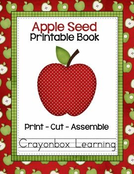 Apple seed printable booklet apple pinterest kindergarten this freebie includes the template pages needed for the apple seed printable book instructions and a photoe booklet will print 2 pages on each 8 x 11 maxwellsz
