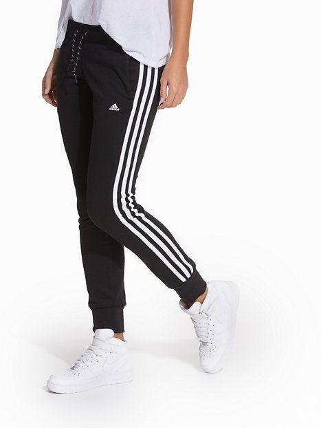 aadef1edb14f Ess 3S Pant - Adidas Sport Performance - Hvit Svart - Bukser Sport -  Sportsklær - Kvinne - Nelly.com