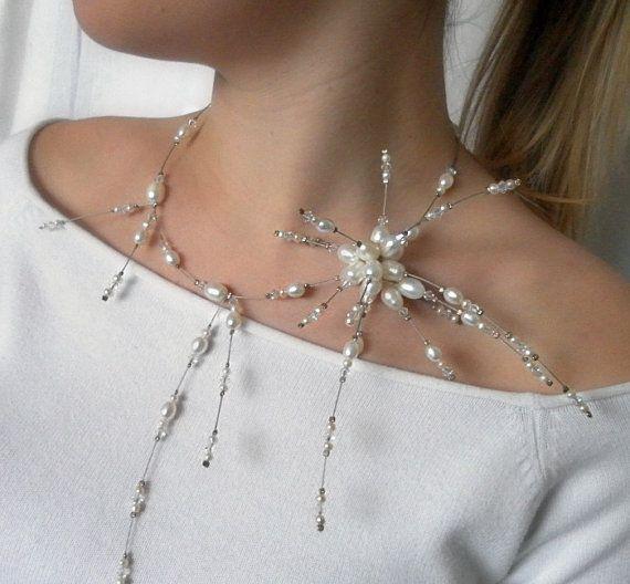 Pearl Necklace witte zoetwater parel parel sterren door anamarina