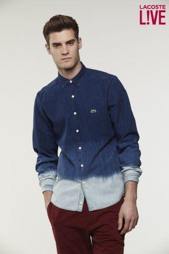 Lacoste L!VE Long Sleeve Denim Shirt : L!VE