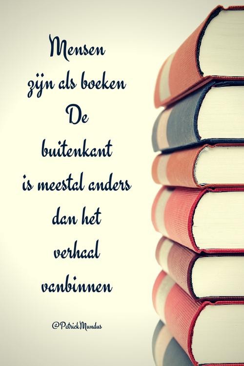 Mensen zijn als boeken. De buitenkant is meestal anders dan het #verhaal vanbinnen...