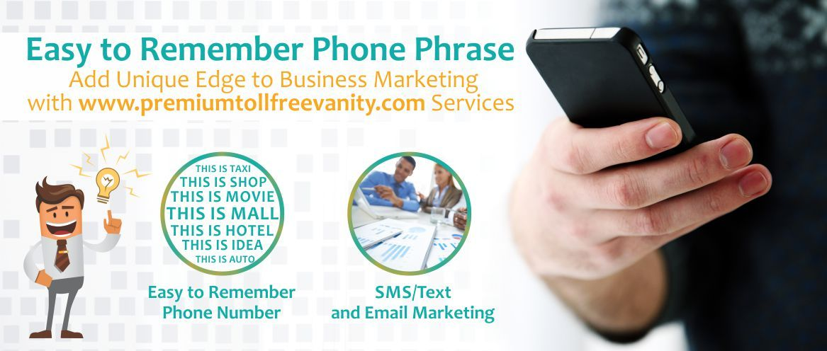 Brand Your Business And Expertise With Memorable Toll Free Phone Number  With Inbound Calls, SMS And Email Marketing.