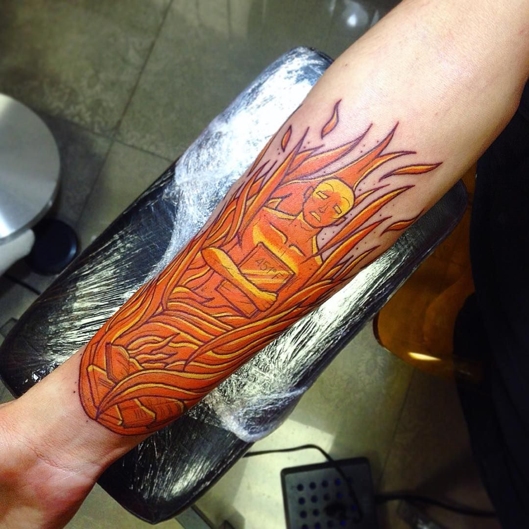 cool 90 Hypnotizing Flame Tattoo Designs - Blazing Hot Body Art! Check more at http://stylemann.com/best-flame-tattoo-designs/