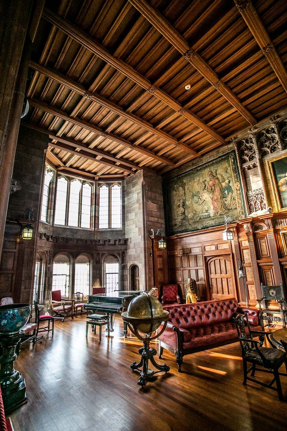 Bamburgh Castle Interior, Of Course Electric Elements Would Not Have Been  Thereu2026