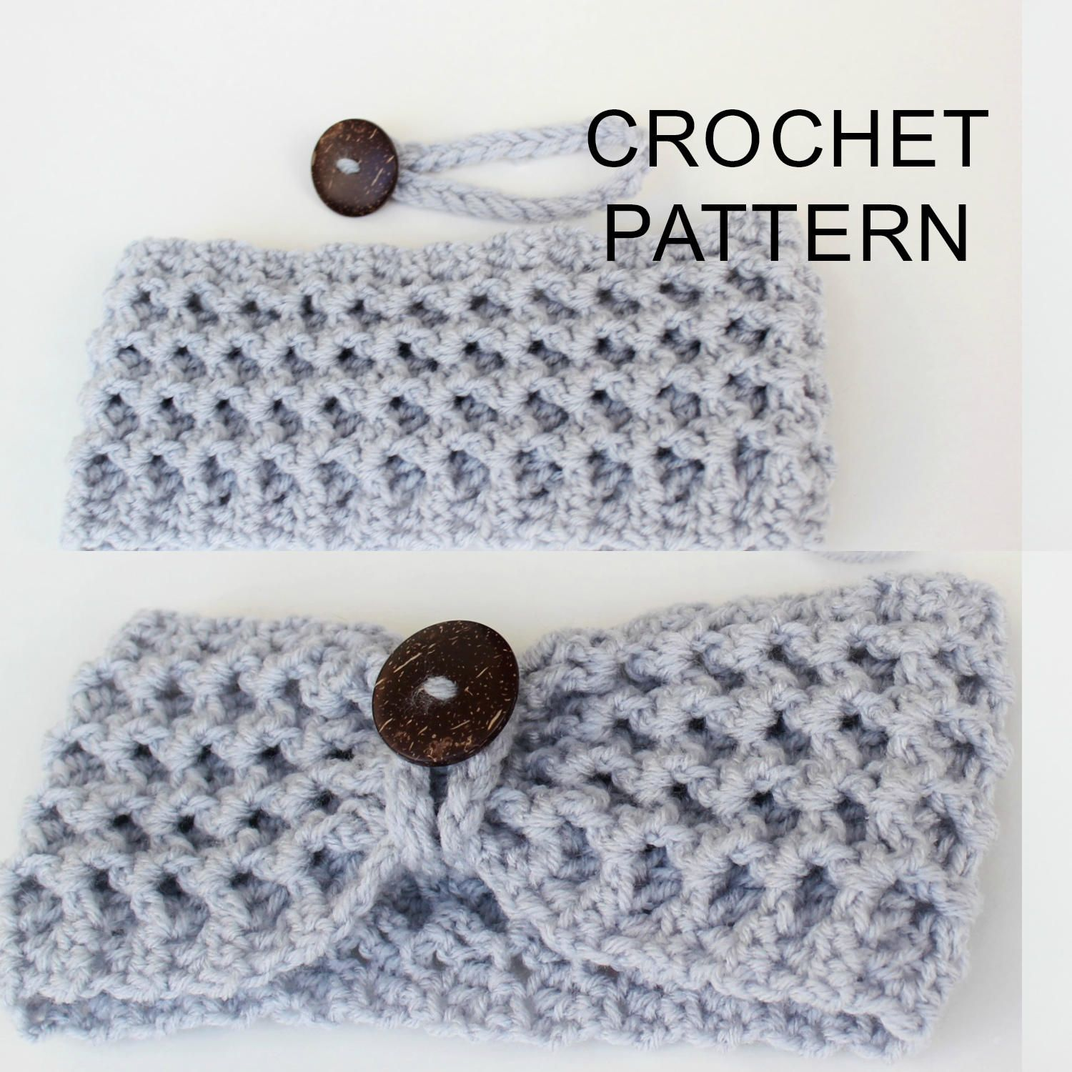 Crochet Pattern PDF, Patron de crochet - LIDA Turban Ear Warmer ...