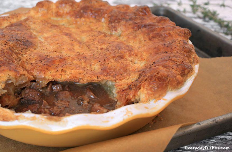 Savory Steak and Mushroom Pot Pie Recipe | Recipes ...