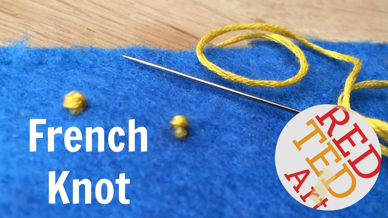 French knot how to basic sewing embroidery hand