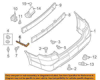 Nissan 13 15 Altima Rear Bumper Side Bracket Right 852203ta0a Car