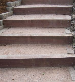 Photo Landscape Timber Stairs Timber Stair Landscape Timbers Garden Stairs