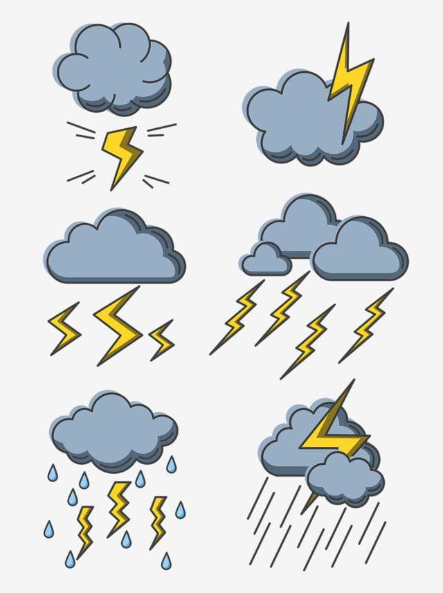 gambar kartun cuaca hujan petir awan hitam cuaca elemen kilat elemen hujan png dan vektor untuk muat turun percuma en 2020 dibujos de nubes lluvia dibujos gotas de lluvia pinterest