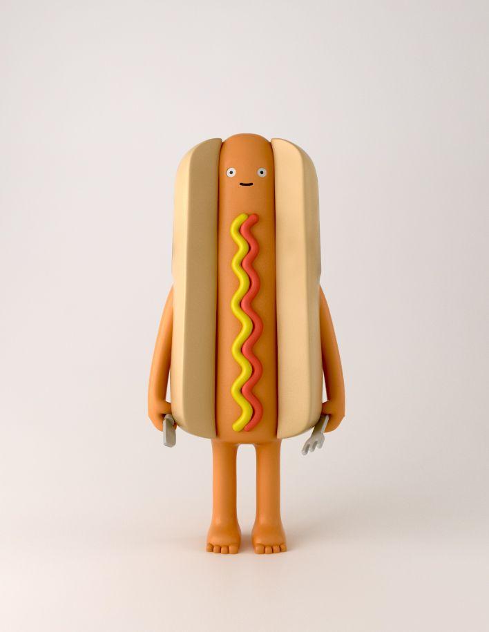 Hotdog Yumyum Hotdog Toy Vinyl Food Art Toy Vinyl Art Toys