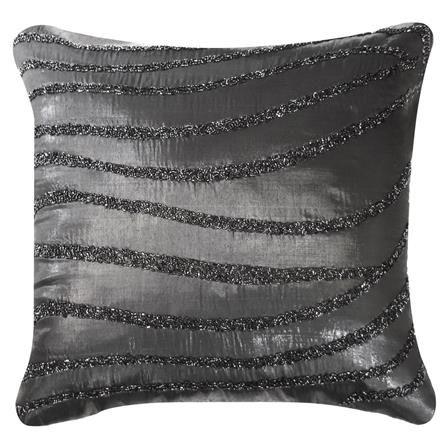 Black Beaded Wave Cushion