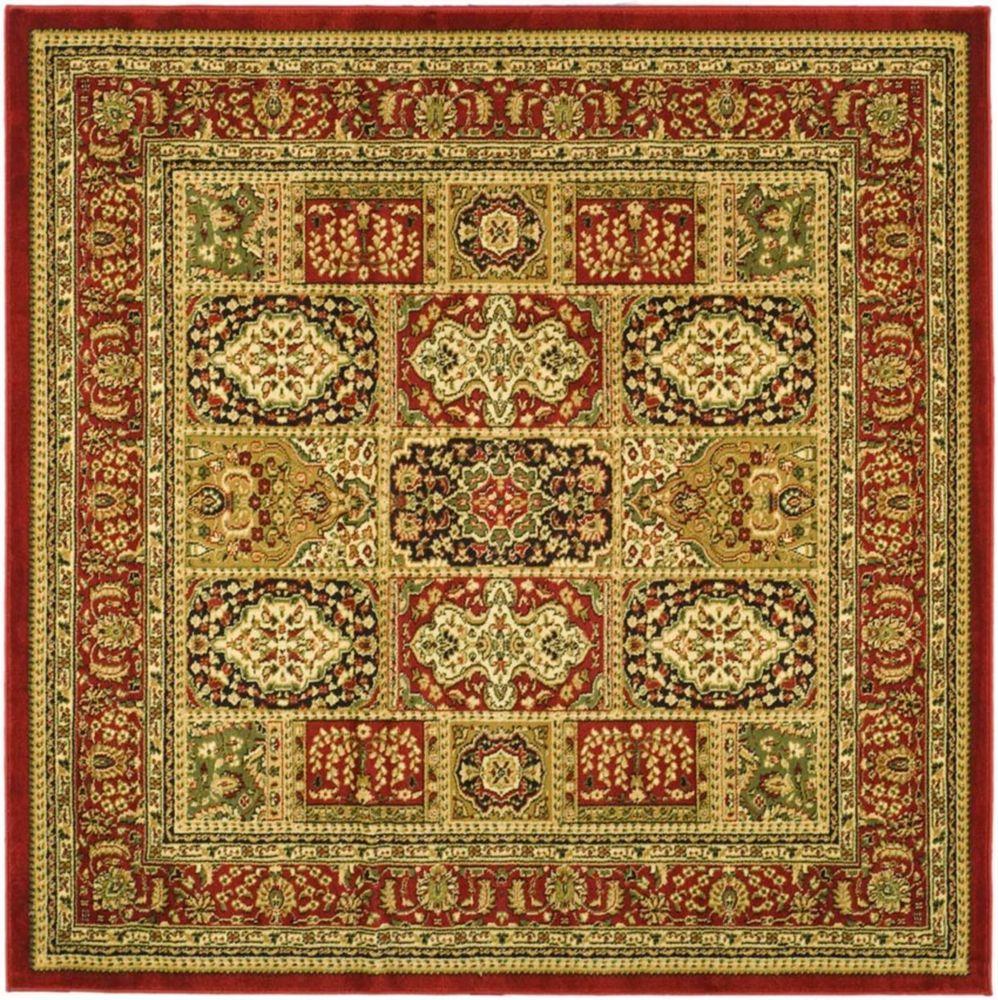 Lyndhurst Multi Red 6 Feet X 6 Feet Square Area Rug Square Area Rugs Oriental Area Rugs Area Rugs