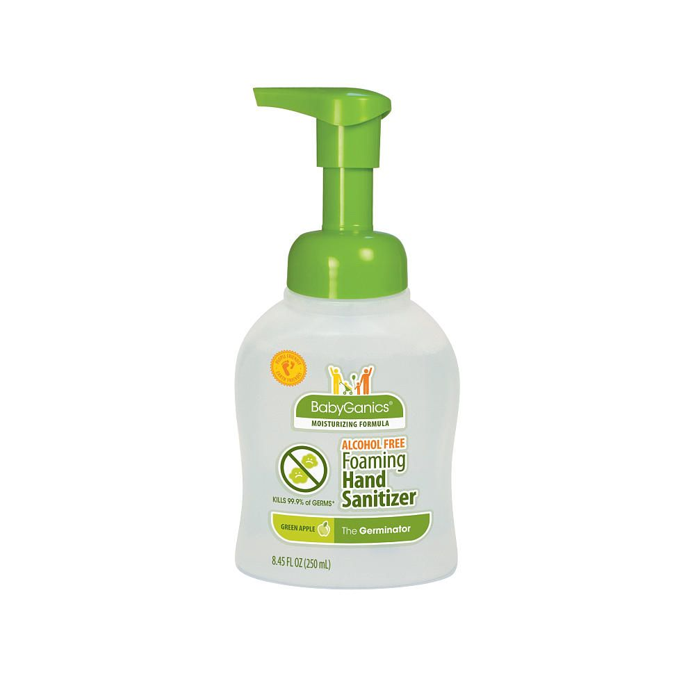 Babyganics Alcohol Free Foaming Hand Sanitizer Green Apple 8 45
