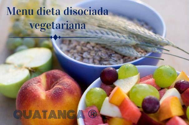 Menu dieta disociada vegetarianaru