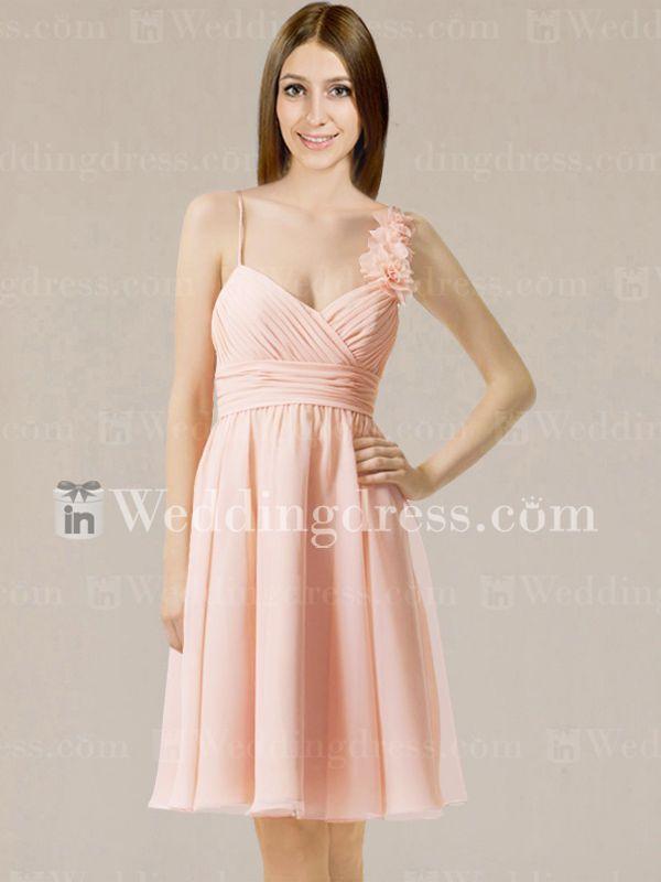 knee length bridesmaid dresses_Peach Fizz
