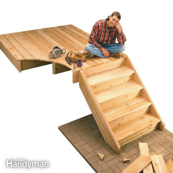 Best How To Build Stairs For Your Deck — The Deck Stairs 640 x 480