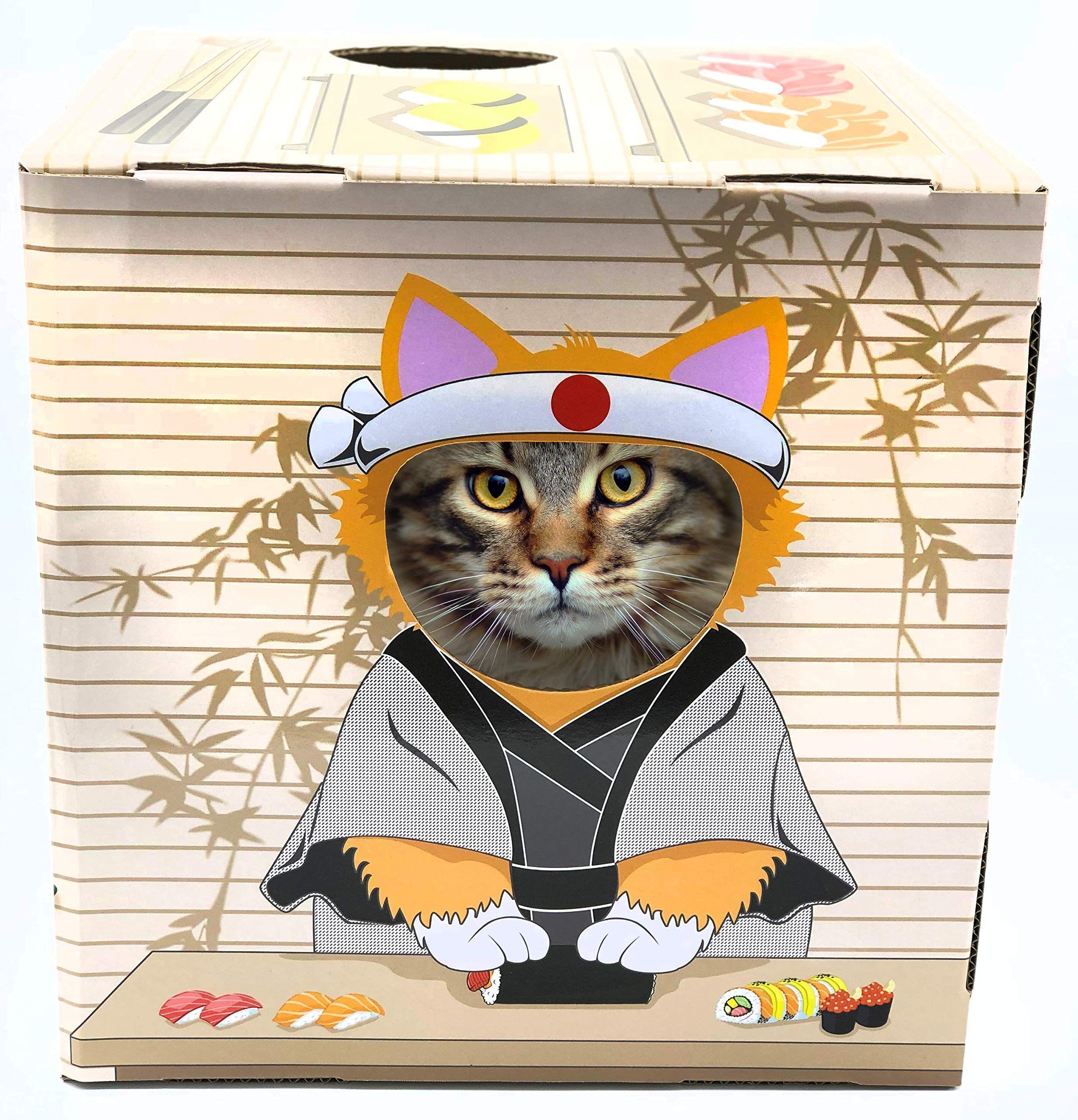 Doyencat Fun Scratching Board Sushi Pet Owners Cat Scratchers Heated Cat House