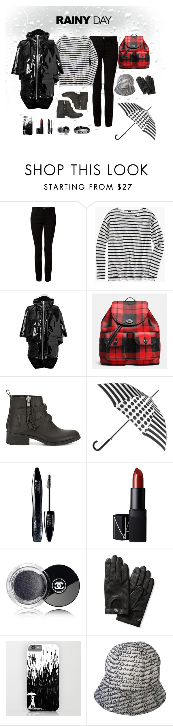 """Rainy Day"" by leahbprice ❤ liked on Polyvore featuring Alexander Wang, J.Crew, Wanda Nylon, Coach, Rebecca Minkoff, Totes, Lancôme, NARS Cosmetics, Chanel and Banana Republic"