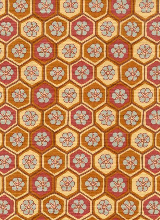 風呂敷:花亀甲文 japanese fabric | Textile patterns and designs