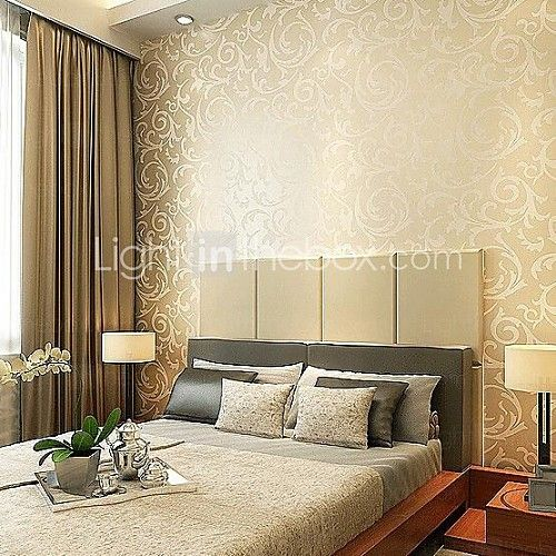 19 Lavish Bedroom Designs That You Shouldn T Miss: Wallpaper Non-woven Paper Wall Covering