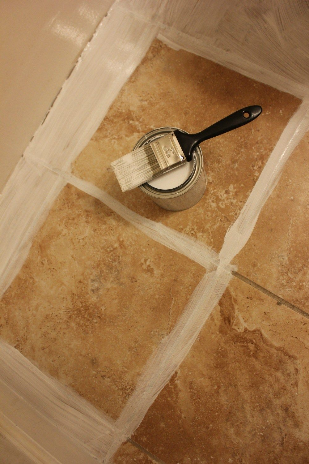 How To Paint A Tile Floor Without Losing Your Mind is part of Painting tile floors, Tile bathroom, Painted kitchen floors, Tile floor diy, Painting ceramic tile floor, Painting tile - An honest tutorial of the full process of painting floor tiles with a stencil  From mistakes, mishaps, tips, and tricks, you'll learn how to paint tile the right way