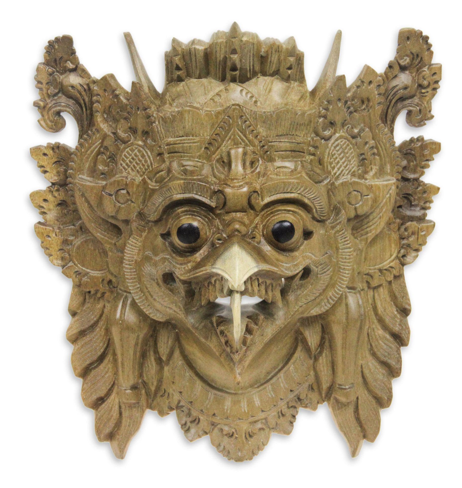 Made mulyani garuda the eagle balinese eagle mask wall decor