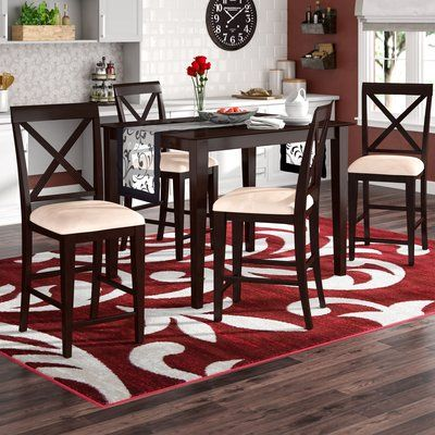 Andover Mills Crestwood 5 Piece Counter Height Dining Set Finish Counter Height Dining Sets Dining Room Sets Kitchen Dining Room