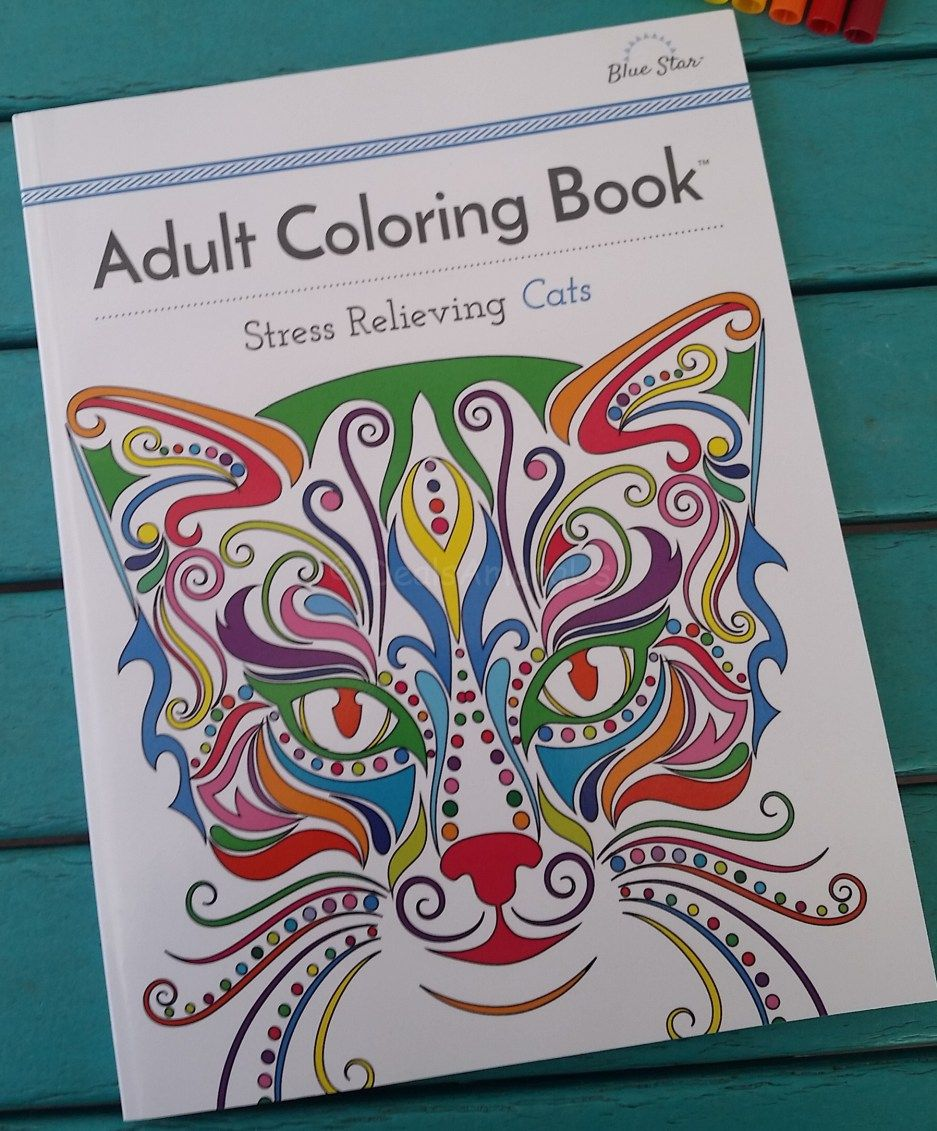 Stress relieving cats coloring - Stress Relieving Cats Adult Coloring Book Review