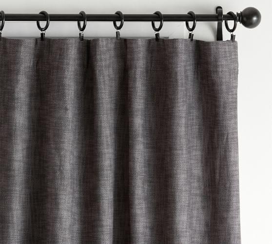 Seaton Textured Blackout Curtain Gray Pottery Barn Curtain Texture Grey Blackout Curtains Custom Drapes