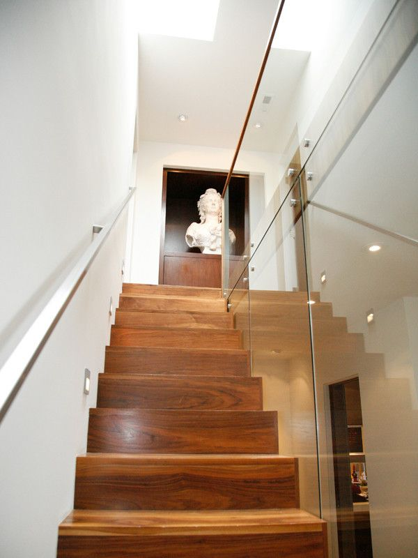 Best Modern Stair Treads Staircase Eclectic With None 400 x 300