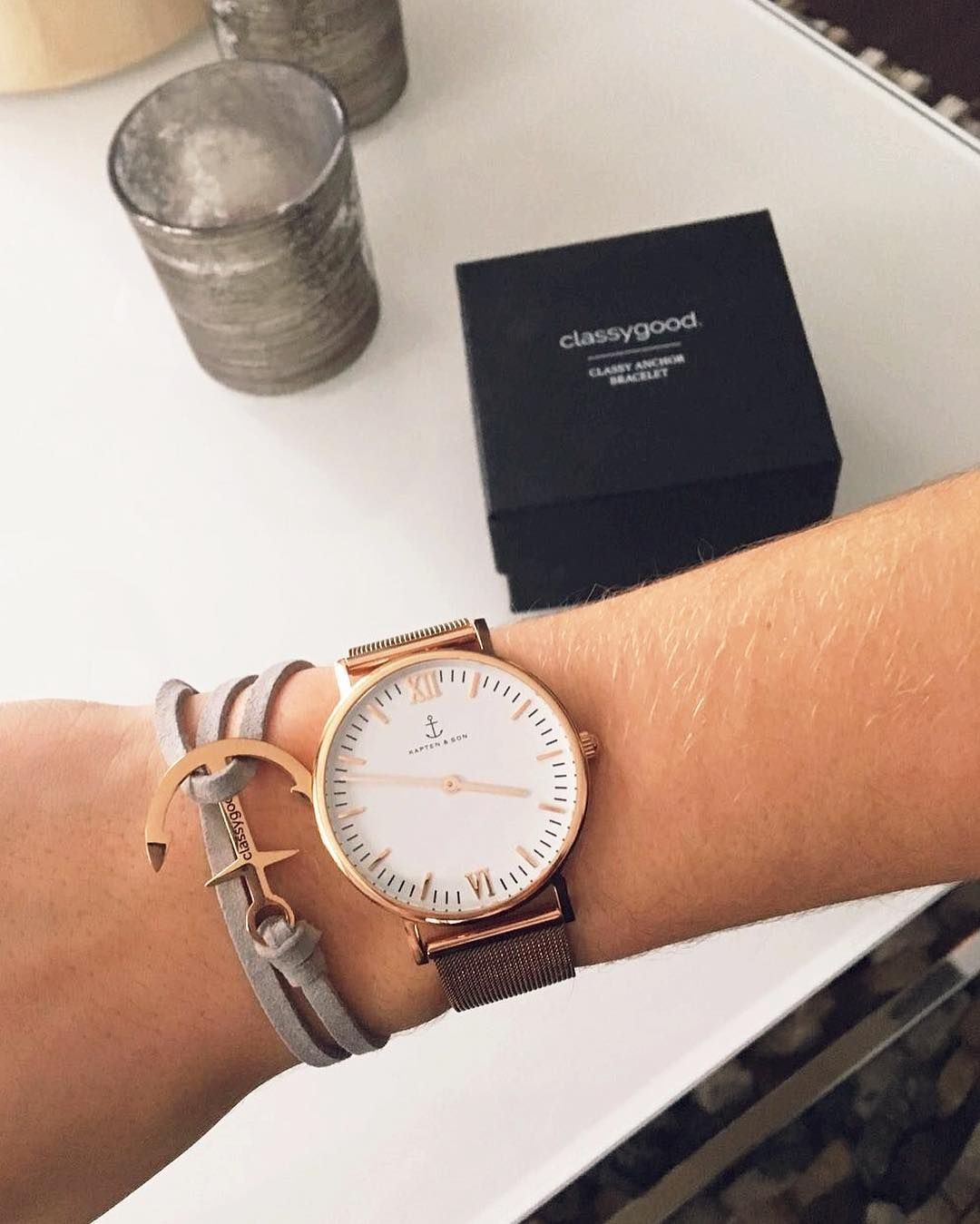 Kapten and son mesh armband