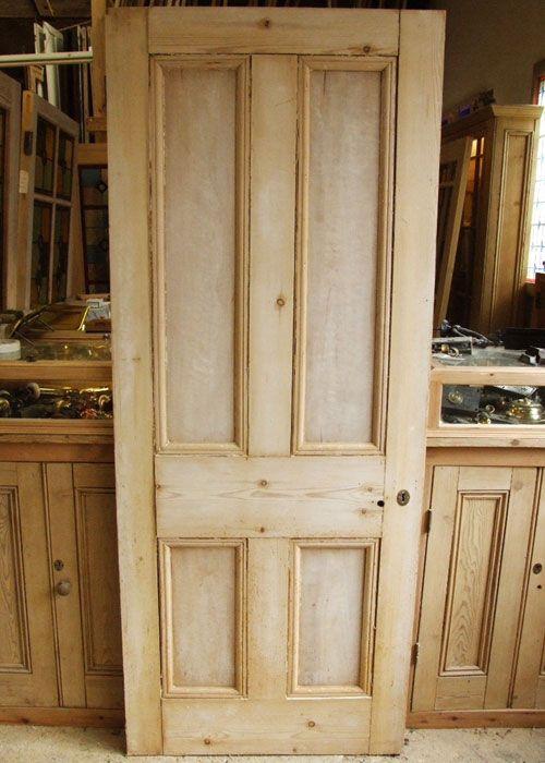 Antique Pine Victorian Internal Door - Antique Pine Victorian Internal Door Modern Farmhouse Laundry Room
