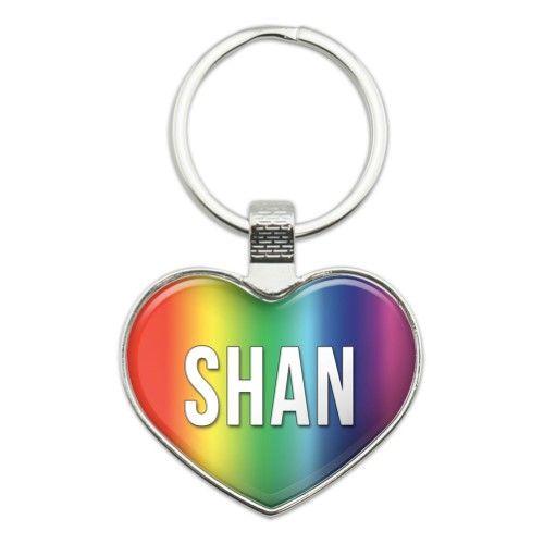Shan I Love Name Heart Metal Key Chain Key Chain Rings Metal Key