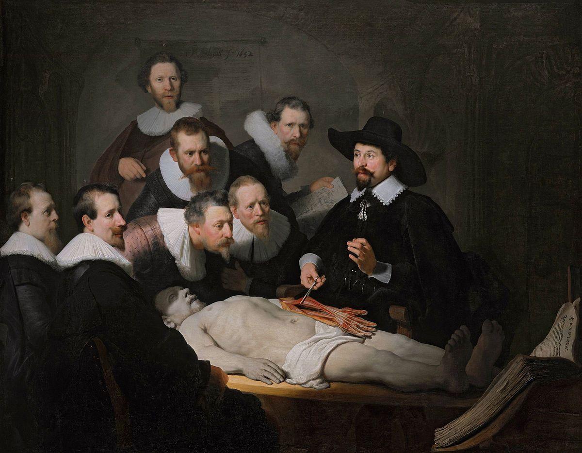 Lección de anatomía del Dr. Nicolaes Tulp - Wikipedia, la ...