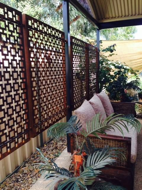 Metal Privacy Screen laser cut metal privacy screens duplicated in great effect. www