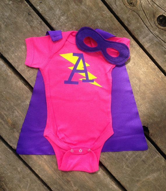 b5896400b This outfit comes with everything your little hero needs to save the day!  This Custom 3-Peice Superhero Baby Outfit, with Bodysuit, Cape and Mask  makes a ...