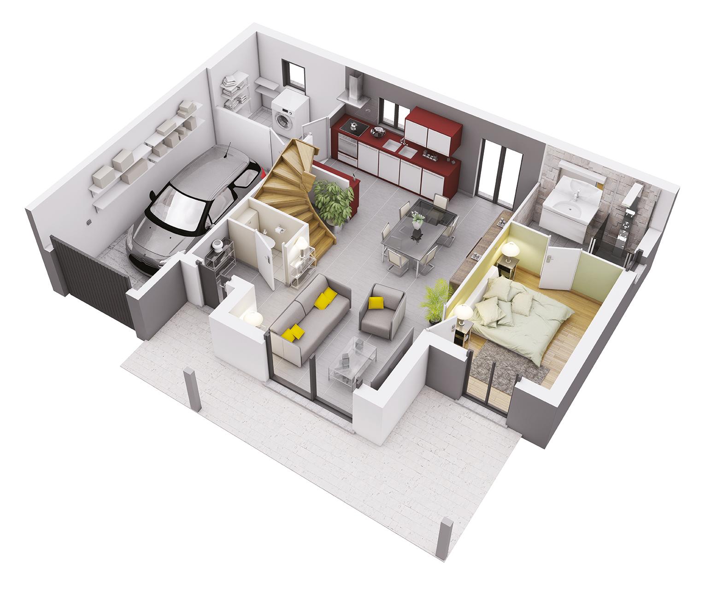 Plan Maison Sud Ouest Modele Athena Contemporain Plan Maison Plan Maison Architecte Maison